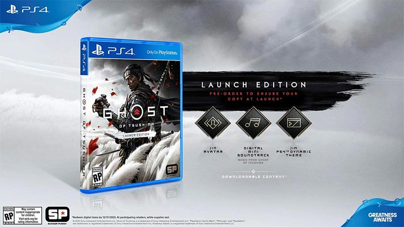 PS4 Ghost of Tsuhima Launch Edition items