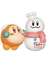Kirby Play in the Snow Waddle Dee Version 1 Fluffy Puffy Mine Figure