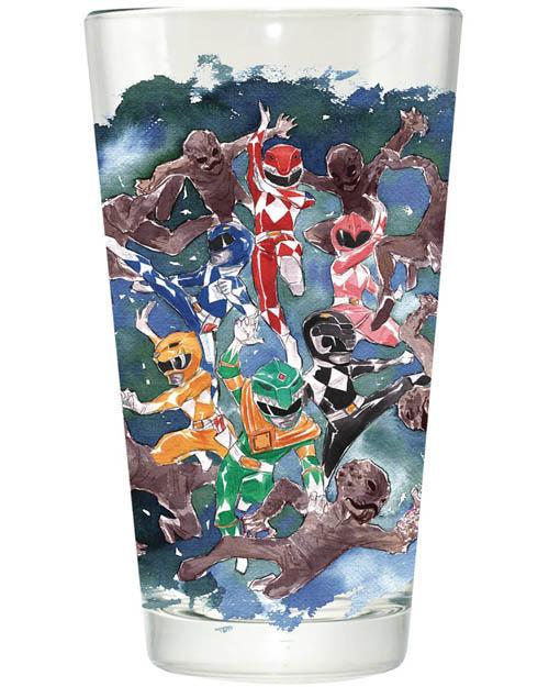 Power Rangers Watercolor Pint Glass