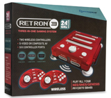 RetroN 3 3 in 1 System With Wireless Controllers 2.4GHz Edition (Red)