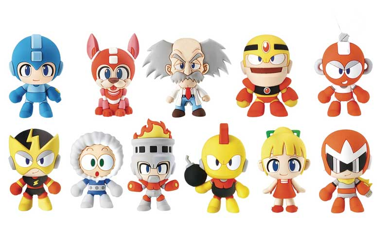 Mega Man 3D Figural Keyrings BMB all figures