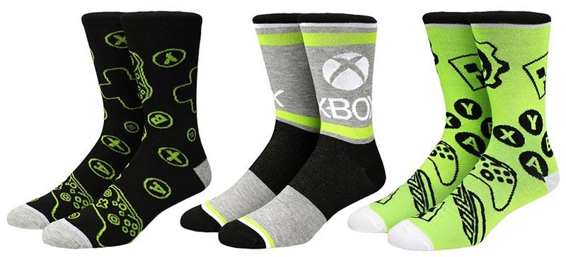 Xbox Icons Patterns Crew Socks 3PK extra img