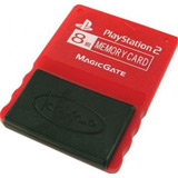 PS2 Memory Card Warm Red by Kemco