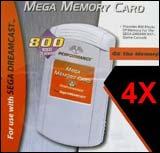 Dreamcast 4X Mega Memory Card