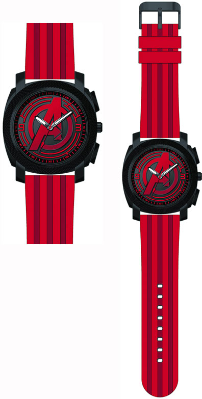 Marvel Avengers Age Of Ultron Silicone Strap Watch