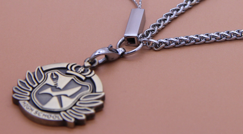 Danganronpa High School Crest Pendant Bracelet