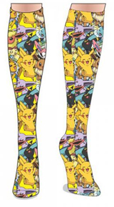 Pokemon Pikachu and Eevee Evolutions Knee Socks