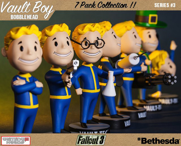 Fallout 3 Vault Boy Bobblehead Vinyl Figures Series 3 Set