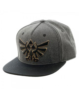 Legend of Zelda Grey & Black Snapback