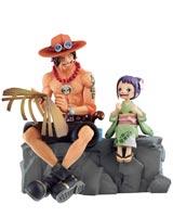 One Piece Emorial Vigenette Ace & Otama Ichiban Figure