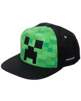 Minecraft Creeper Face Embroidered Youth Snapback Hat