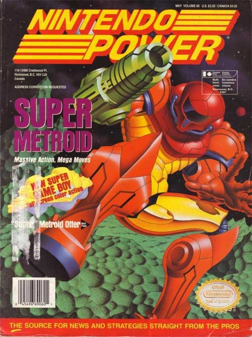 Nintendo Power Magazine Volume 60 Super Metroid