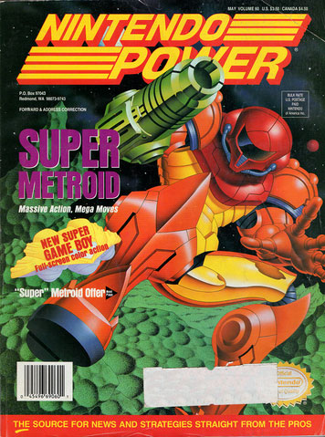 Nintendo Power Magazine Volume 60 Super Metroid