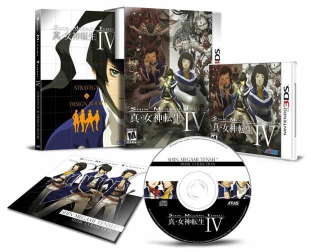 3DS Shin Megami Tensei IV Limited Edition all items