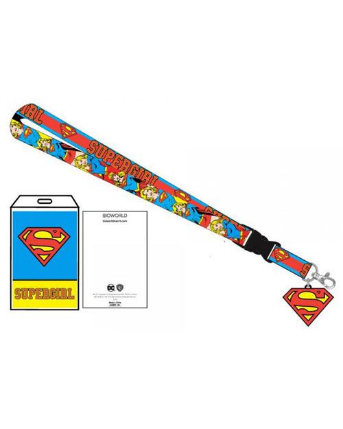 DC Comics Supergirl Lanyard With Charm