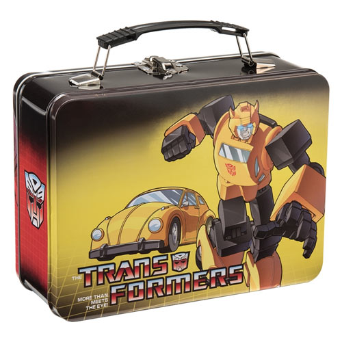 Transformers Large Tin Tote Backside View