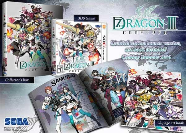 7th Dragon III Code VFD Launch Edition bonus items