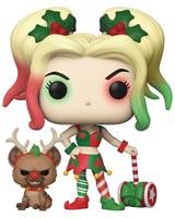 Pop Heroes DC Holiday Harley Quinn with Helper Vinyl Figure