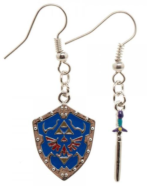 Legend of Zelda Shield Earrings