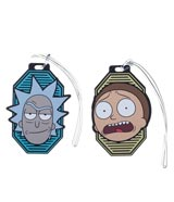 Rick & Morty Rubber Luggage Tag 2-Piece Set