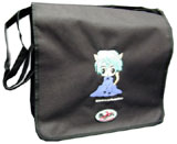 Courier^3 Neko-Chan Black Courier Bag