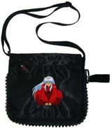 InuYasha Sitting Black Zip Pac Bag