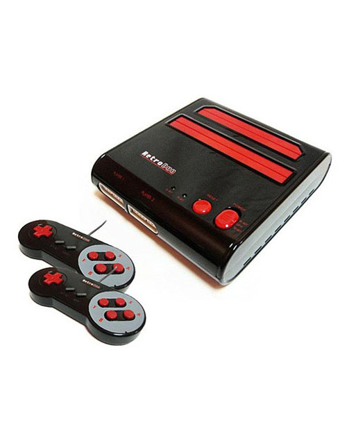 Retro Duo NES/SNES System Black/Red