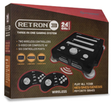 RetroN 3 3 in 1 System With Wireless Controllers 2.4GHz Edition (Black)