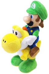 Nintendo Super Mario Luigi Riding on Yoshi 8 Inch Plush