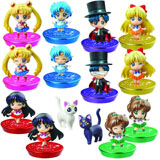 Sailor Moon Petit Chara Land Glitter Version 1 Trading Figures