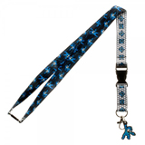 Mega Man 8 Bit Lanyard With Charm