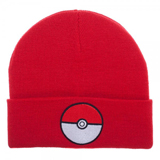 Pokemon Pokeball Red Cuff Beanie
