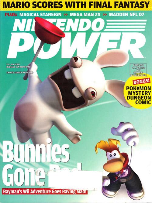 Nintendo Power Volume 207 Rayman Raving Rabbids