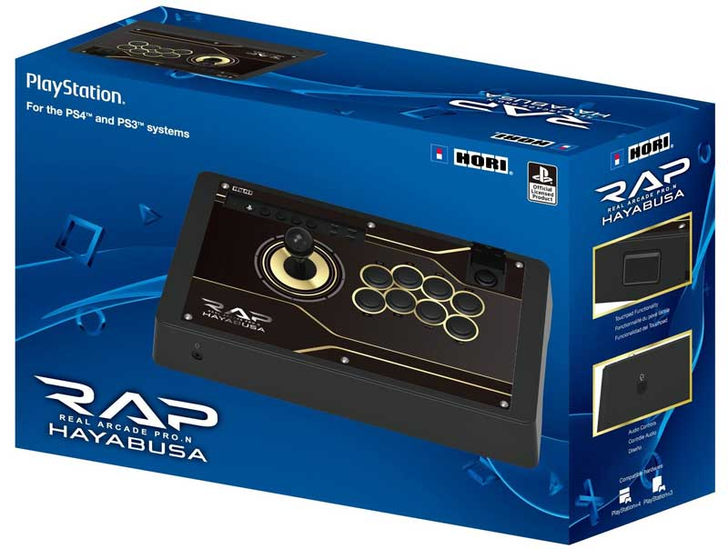 Hori Real Arcade Pro N Hayabusa Fightstick for PS4 and PS3 box