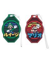 Super Mario Rubber Luggage Tag 2 Piece Set
