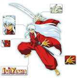 Inu Yasha Sword in Hand T-Shirt LG