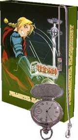 FullMetal Alchemist Silver Pocket Watch with Necklace Set