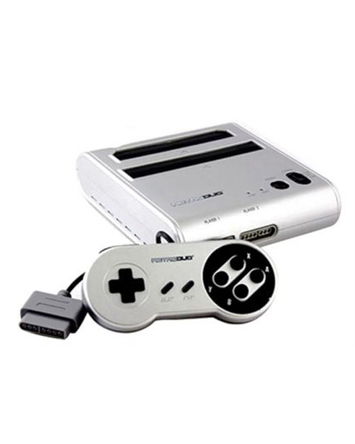 Retro Duo NES/SNES System Silver/Black