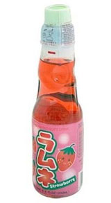Ramune Strawberry Carbonated Soft Drink