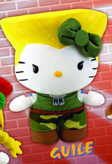 Sanrio X Street Fighter Guile 10 Inch Plush