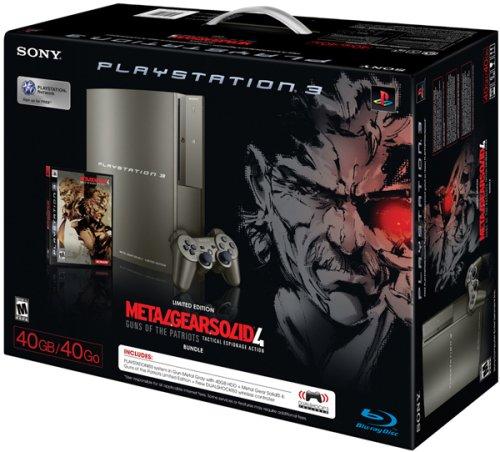 Sony Playstation 3 Metal Gear Solid 4 Gray Kojima Bundle