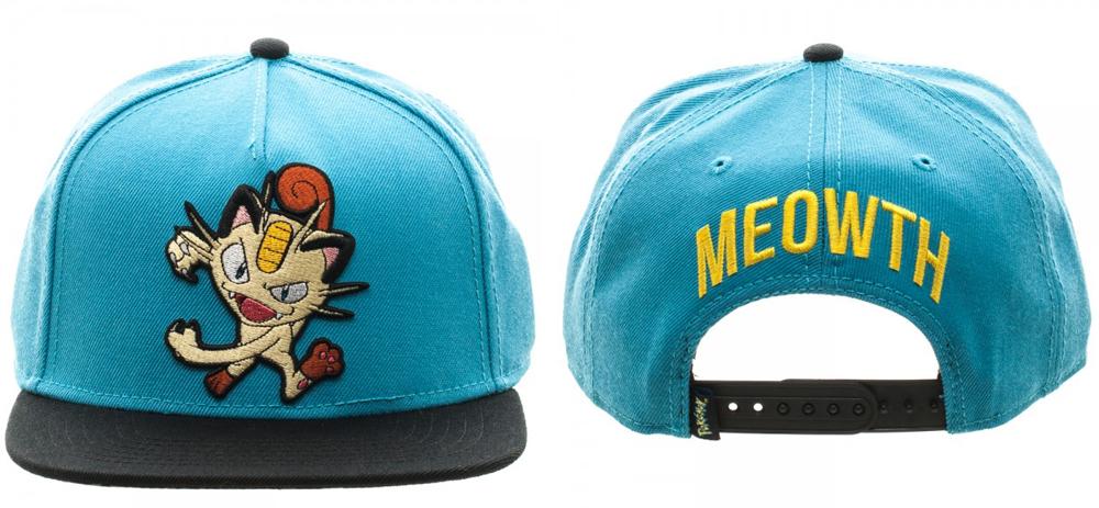 Pokemon Meowth Color Block Snapback