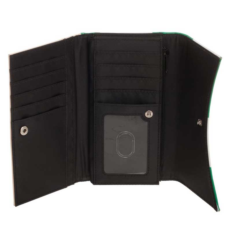 Super Mario Green Mushroom Flap Wallet internal image
