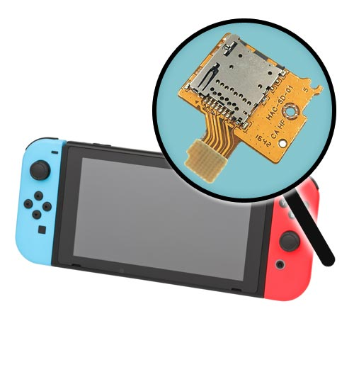 Nintendo Switch microSD Card Socket Replacement Service