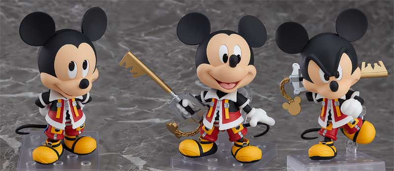 KH2 King Mickey Nendoroid additional poses and accessories