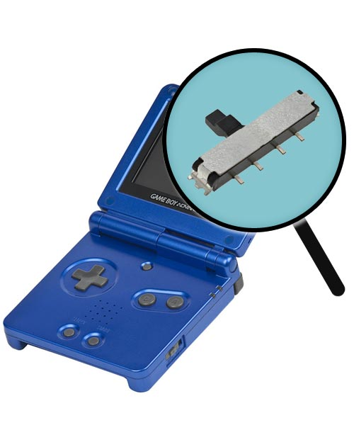 Game Boy Advance SP Repairs: Power Switch Replacement Service
