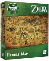 Zelda Hyrule Map 1000 Piece Puzzle