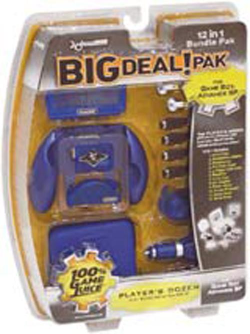 Game Boy Advance SP Big Deal 12 in 1 Bundle Cobalt Blue