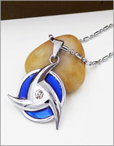 Naruto Shippuden Blue Mangekyo Sharingan Necklace