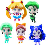 Sailor Moon: Petit Chara Ayakashi vs Sailor Moon Deluxe Set Figures
